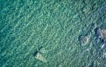 Aerial View On Underwater Reef...