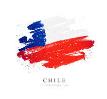 Chile Flag. Vector Illustration On A White Background.