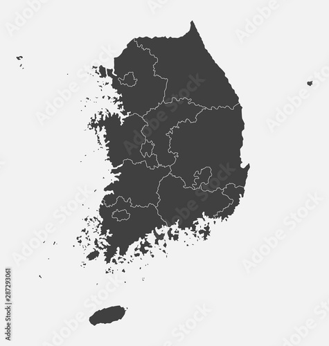 South Korea country map background vector template Wallpaper Mural