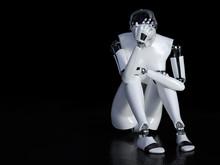 3D Rendering Of Female Robot L...