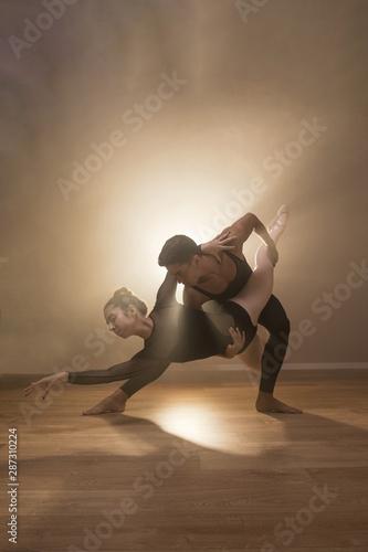 Cuadros en Lienzo Full shot ballet fish pose