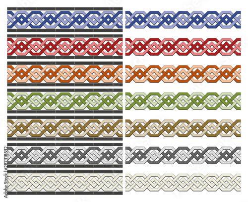 Photo Arabic tiles seamless pattern