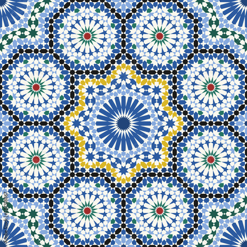 Arabic tiles seamless pattern Fototapet