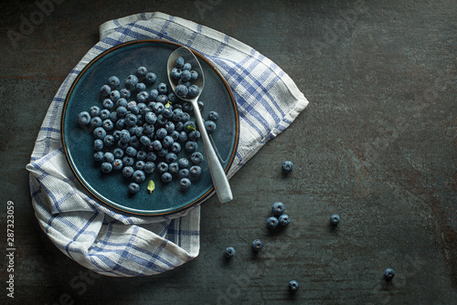 Blueberries Wallpaper Mural