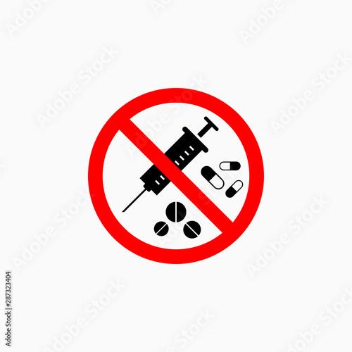 no drugs icon, no drugs vector Canvas Print