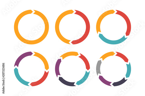 Circle arrow for infographic icons set Fotobehang