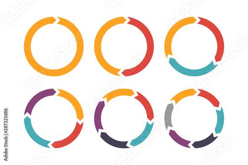 Obraz na płótnie Circle arrow for infographic icons set
