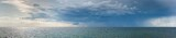Panorama of Rain Shower over the Baltic Sea