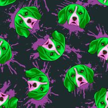 Decorative Dog Print With Acid...