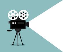 Movie Time Concept. Cinema Ban...