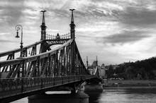 Liberty Bridge In Budapest, Hu...