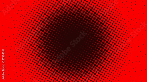 Dark red dotted background in retro pop art comic style, vector illustration Fototapet