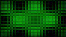 Green And Black Retro Comic Pop Art Background With Haftone Dots Design. Vector Clear Template For Banner Or Comic Book Design, Etc