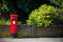 British Red Postbox In Rural S...