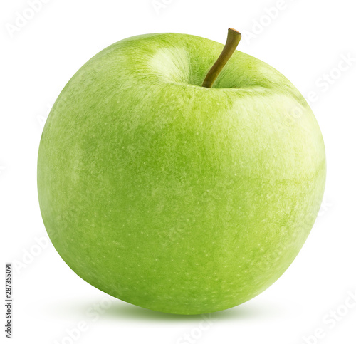Fotomural  green apple isolated on white background