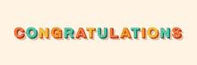 Congratulations Vector Lettering