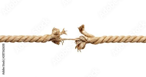 string rope cord pressure broken stress Tableau sur Toile