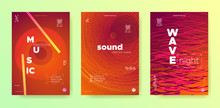 Sound Wave Flyer. Electronic Round. Music Dance