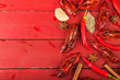 canvas print picture - Crayfish. Red boiled crawfishes on table in rustic style,  Lobster closeup.