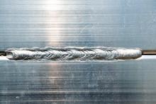Extreme Macro Shot Of Welded Aluminum Composite Material