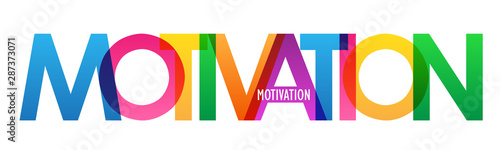 Fotomural MOTIVATION colorful typography banner
