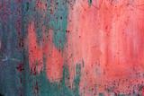 Fototapeta Młodzieżowe - Background concrete wall, traces of weathering, worn wall damaged paint old paint. Remains of old paint on painted concrete surface. Grungy concrete surface. Traces of old paint of graffiti on wall
