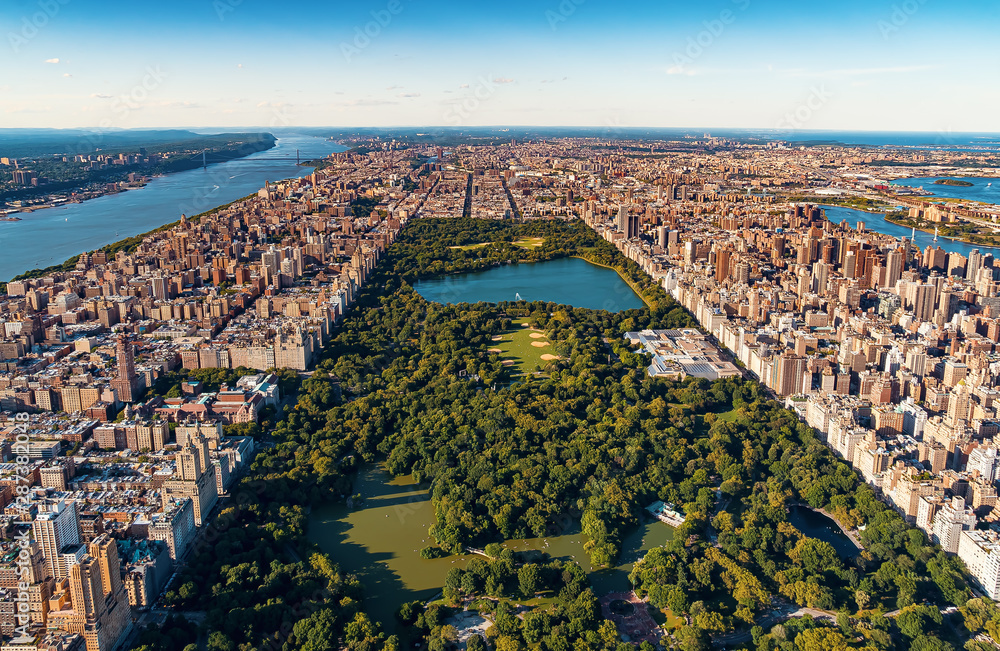 Fototapety, obrazy: Aerial view of Manhattan, NY and Central Park