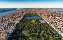 Aerial View Of Manhattan, NY A...