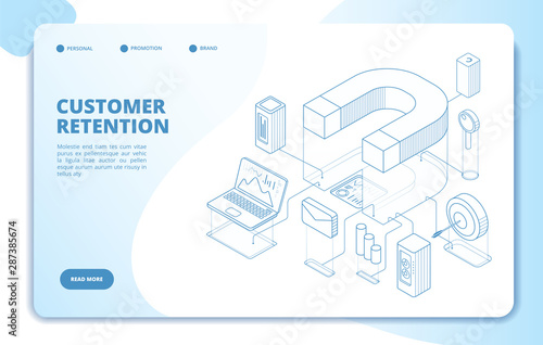 Customer retention landing page Canvas Print