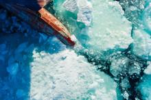 Bow Of Ice Breaker Going Throu...