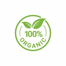 100% Organic Natural Badge Lab...