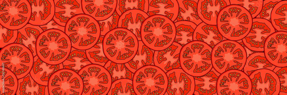Fototapeta Krojone pomidory