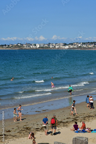 Saint Malo; France - july 28 2019 : picturesque city in summer