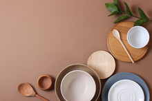 Set Of Dishes And Kitchen Uten...