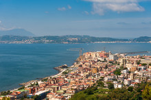 View Of Pozzuoli With Rione Terra, Pozzuoli, Campi Flegrei (Phlegraean Fields), Naples, Campania