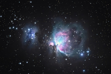 Great Orion Nebula M42, in the constellation of Orion, Milky Way