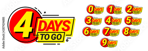 Photographie Countdown left days banner