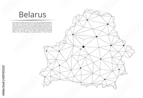 Fotografie, Obraz Belarus communication network map