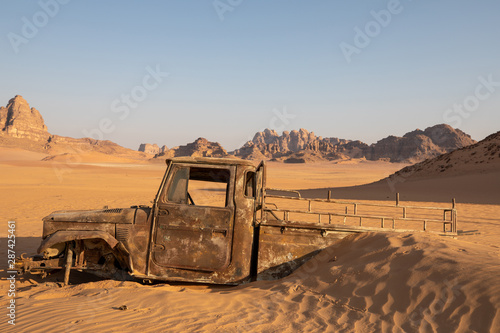 Truck in the Sand Canvas Print