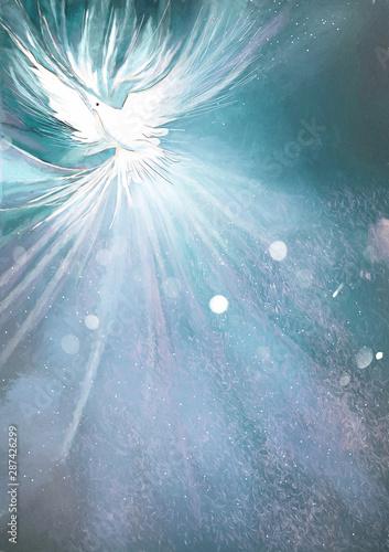 Holy Spirit. Christian painting background Canvas-taulu