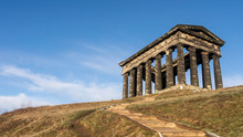 Penshaw Monument, Houghton Le Spring In Sunderland - Built In 1844 And Dedicated To John George Lambton. The Earl Of Durham Monument Was Inspired By The Temple Of Hephaestus In Athens.