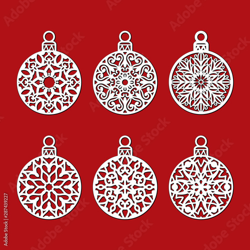 Download Template Snowflakes Laser Cut And Engraved. Design
