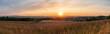 Sonnenuntergang über der Wetterau mit Blick auf Bingenheim