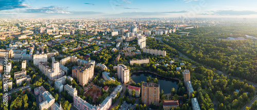 Foto  Aerial view of Moscow over the Sokolniki district