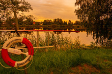 Idyllic View Of The Sunset In Karlstad Sweden