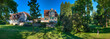 canvas print picture - Die Altstadt von Bad Homburg mit Schloßpark