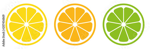 Fotomural Citrus slice set