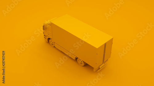 Fotografía Yellow Truck. Minimal idea concept. 3d illustration