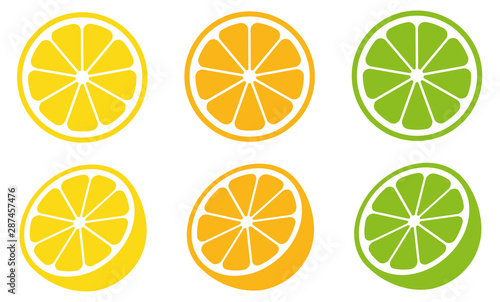 Obraz na plátně  Citrus slice set