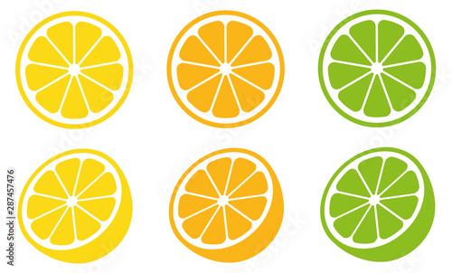 Photo  Citrus slice set